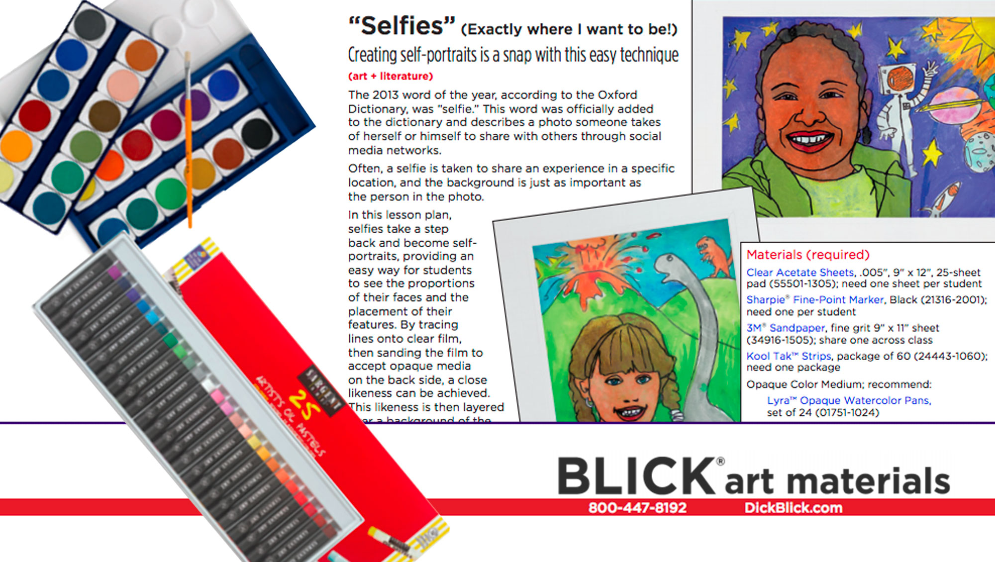 Selfies Art Project from Blick