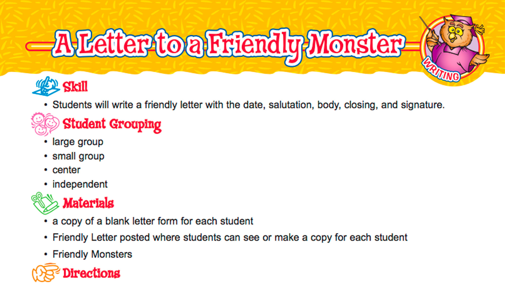 Letter Writing Lessons & Formatting Tips TeacherVision