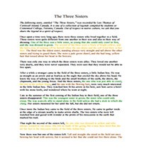 The Three Sisters - Color Coded
