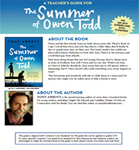 The Summer of Owen Todd Teaching Guide