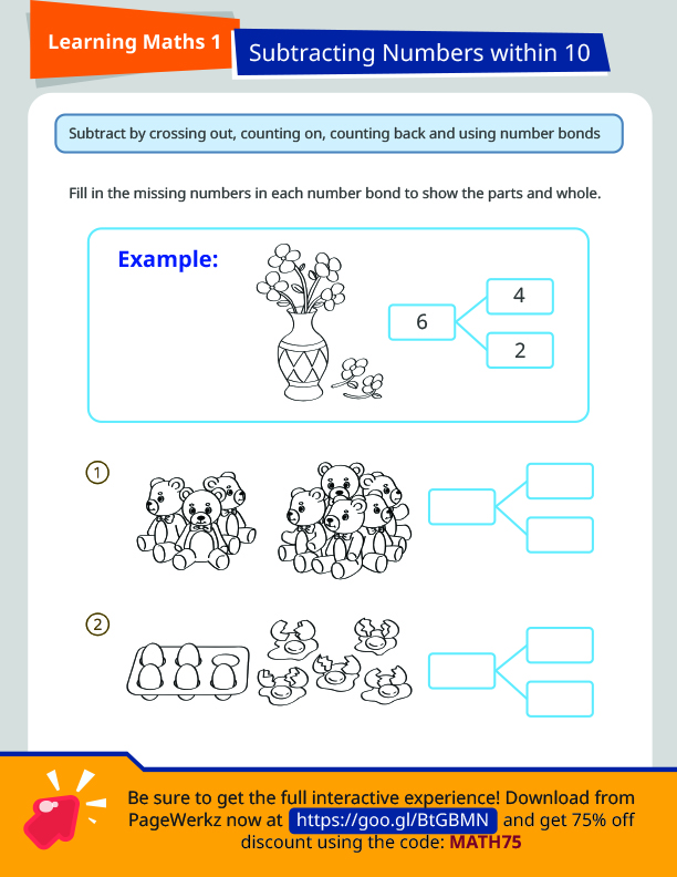 SAP Learning Math 1: Subtracting Numbers Less Than 10