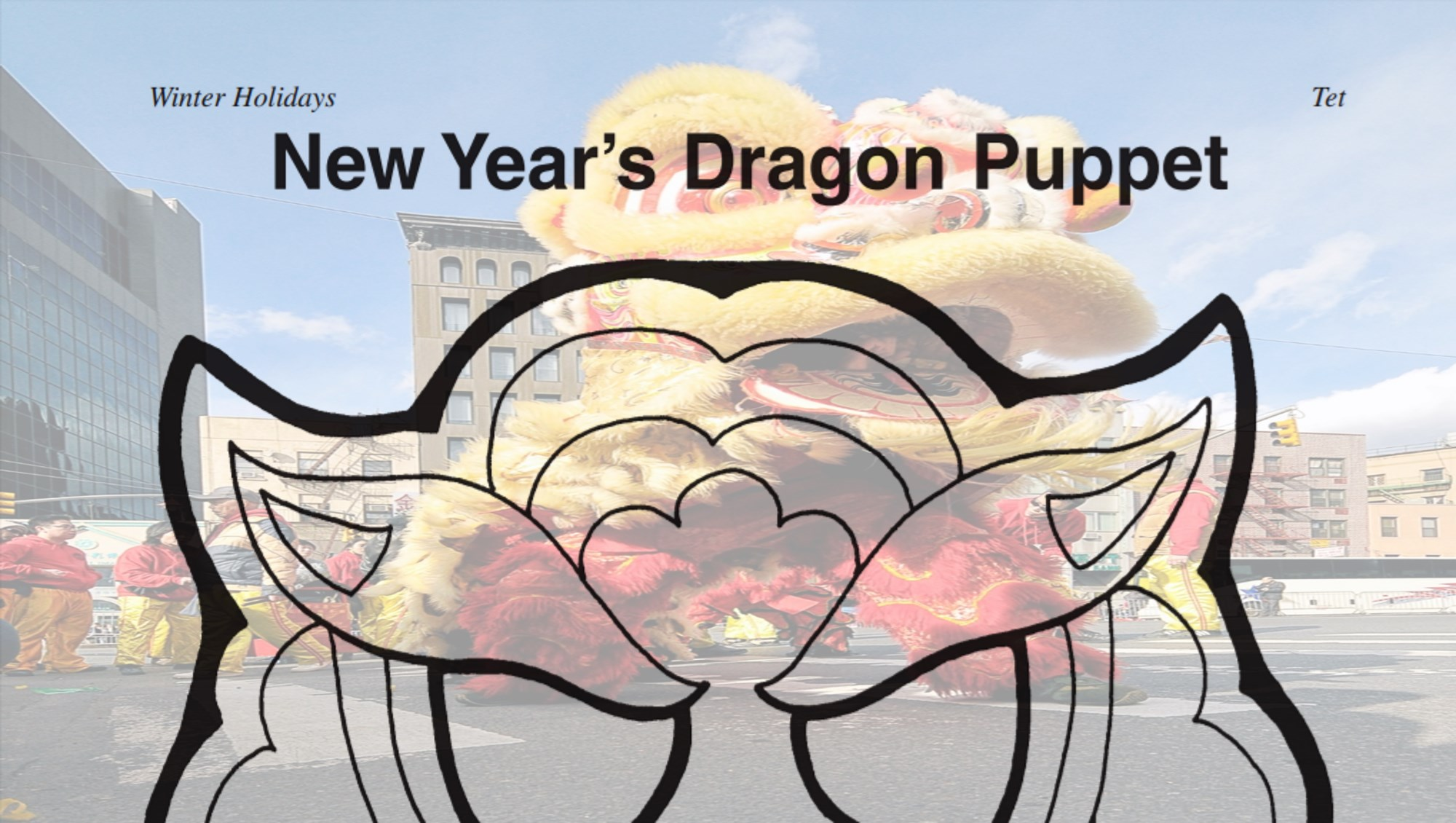 how to make chinese dragon puppet