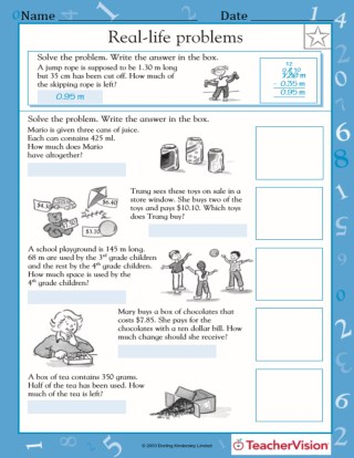 Multiplication And Division Word Problems Iii Worksheet Grade 3 Teachervision