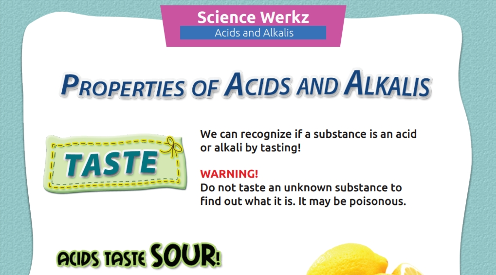 Acids Or Alkali You Can Tell By Taste