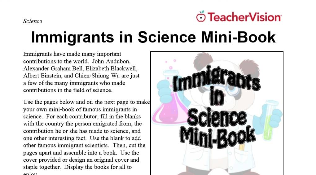 Immigrants in Science Mini Book Cover Image