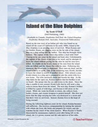 Extension Activities for Island of the Blue Dolphins
