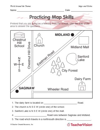 Practicing Map Skills Teachervision