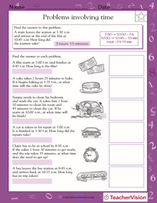 Word Problems Involving Time (Grade 5)