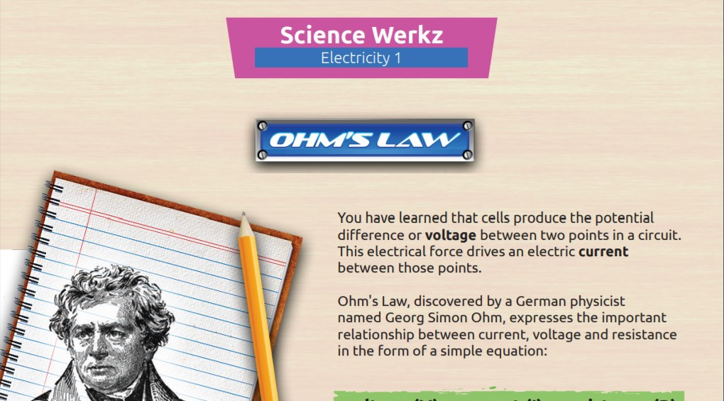 Understanding Ohm's Law Reference Sheet