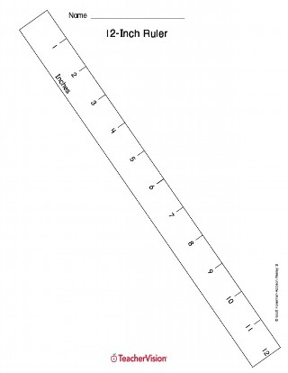 12-inch Printable Ruler for the Math Classroom