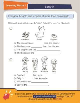 SAP Learning Math 1: Measuring and Comparing Lengths
