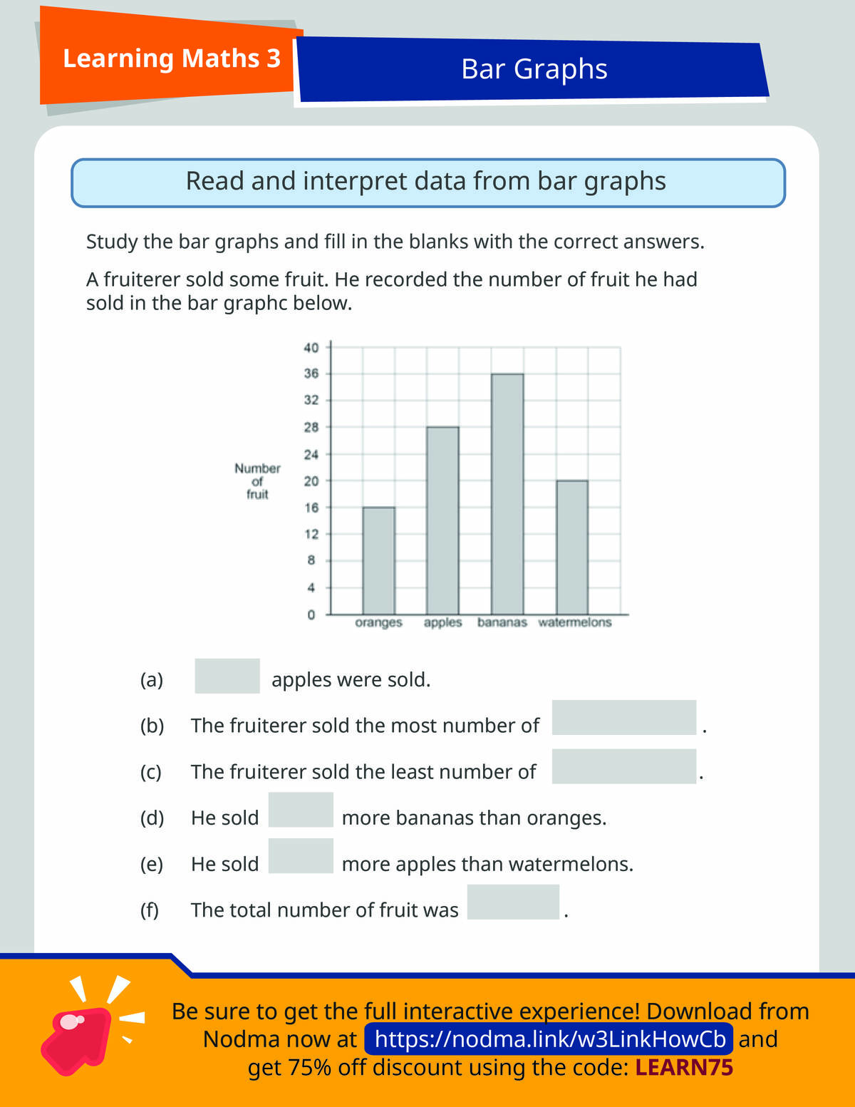3rd Grade Math: Interpreting Data from Bar Graphs