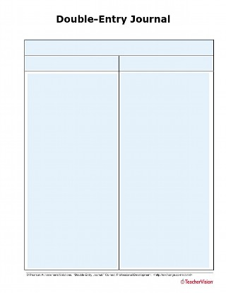Double-Entry Journal Template for ELA, Social Studies, Math and Science