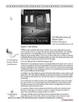 The Miraculous Journey of Edward Tulane Teaching Guide
