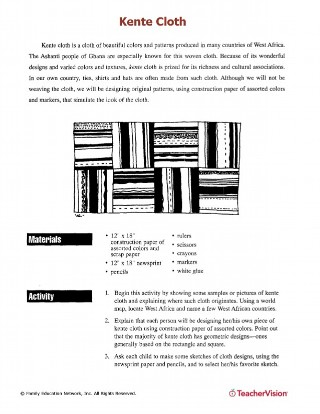 Kente Cloth research and art/craft activity