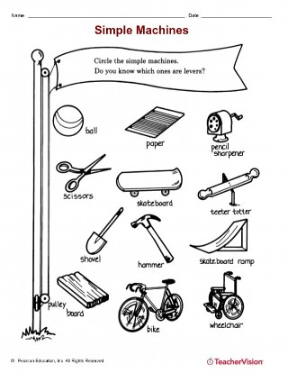 graphic regarding Simple Machines Printable Worksheets known as Straightforward Products II - TeacherVision