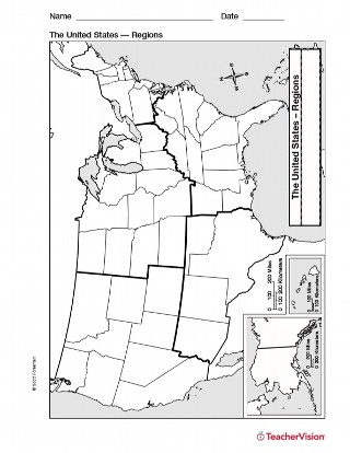 Map of Northeast United States - Geography Printable (1st-8th Grade ...
