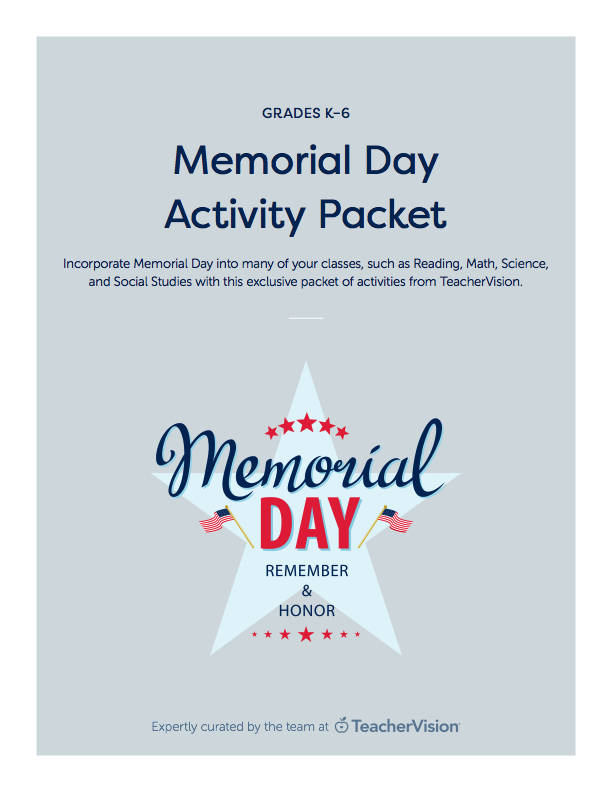 Memorial Day Printables References K 12 Resources Teachervision