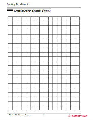 image regarding 1 Cm Graph Paper Printable known as Centimeter Graph Paper - TeacherVision
