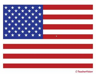american flag printable in color teachervision