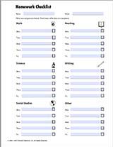 Homework Checklist