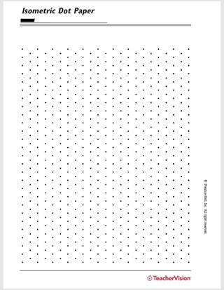 image about Dot Grid Printable identify Isometric Dot Paper - TeacherVision