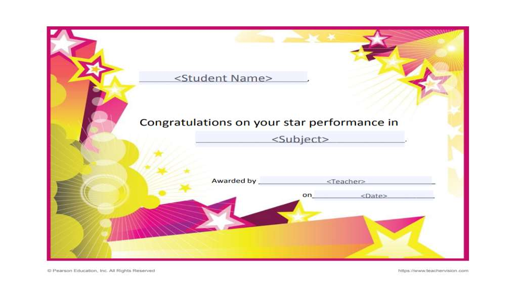 Printable Awards For Students Grades K 12 Teachervision
