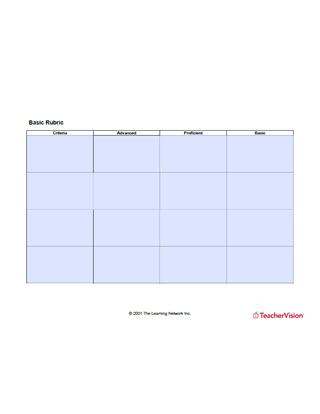Blank Customizable Rubric