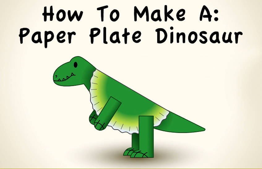Create-Along Video: How to Make a Paper Plate Dinosaur