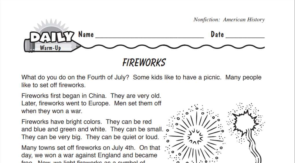 history of fireworks reading warm up