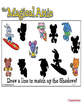 Magical Attic Match the Shadows Puzzle Activity