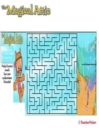 magical attic crystal cat underwater maze puzzle