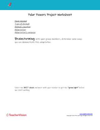 Polar Powers Project Worksheet