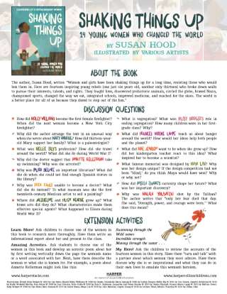 Shaking Things Up Book Discussion Guide