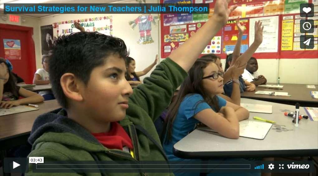 Survival Strategies for New Teachers