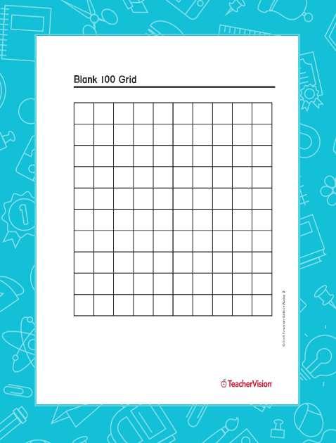 Blank 100 Grid - TeacherVision