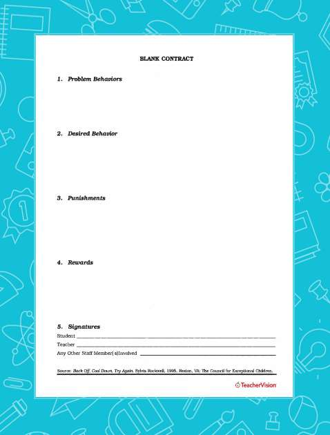 photo regarding Behavior Contract Printable named Blank Patterns Deal - TeacherVision