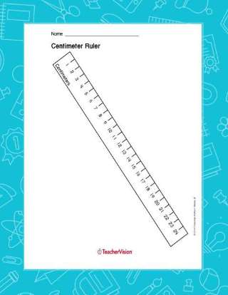 photograph about Centimeter Ruler Printable titled Printable Centimeter Ruler (Size, 1st - 5th Quality