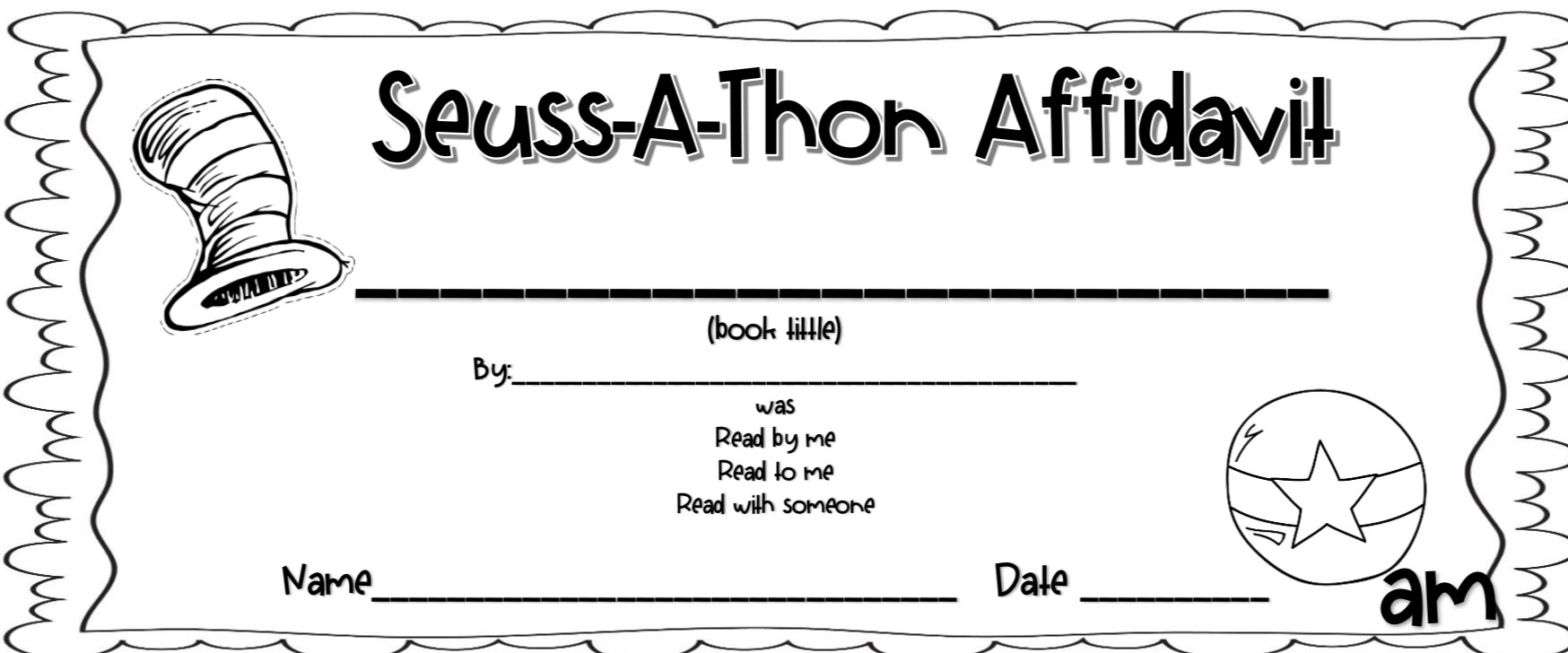 Dr.Seuss-a-Thon resources