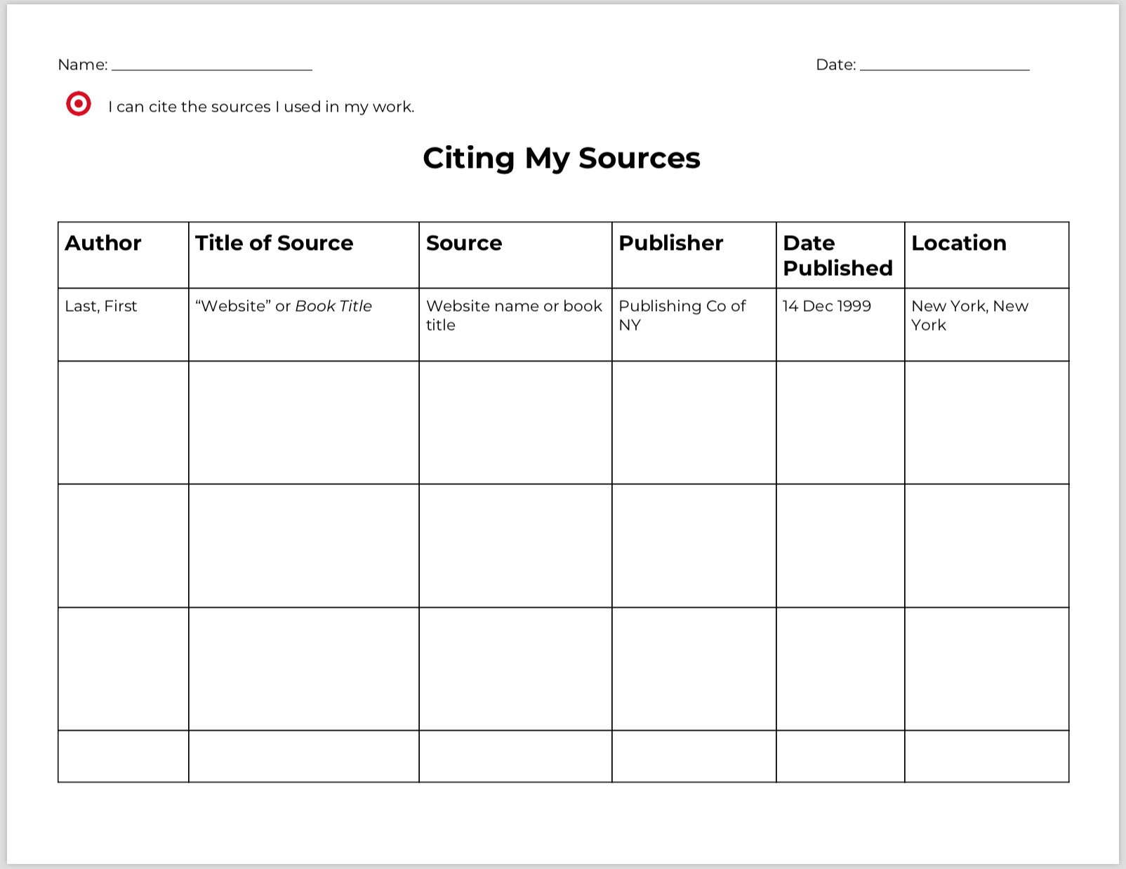 new this week  research process graphic organizers
