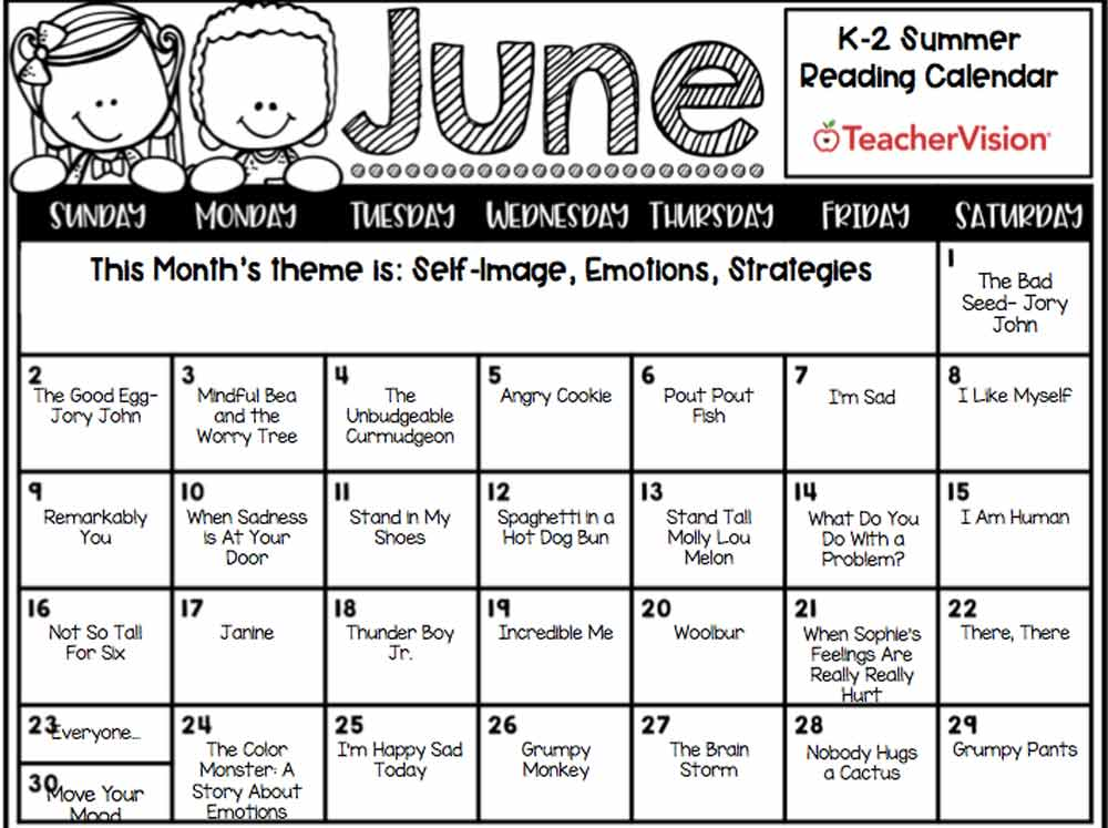 Summer Reading Calendar and Resource Packet
