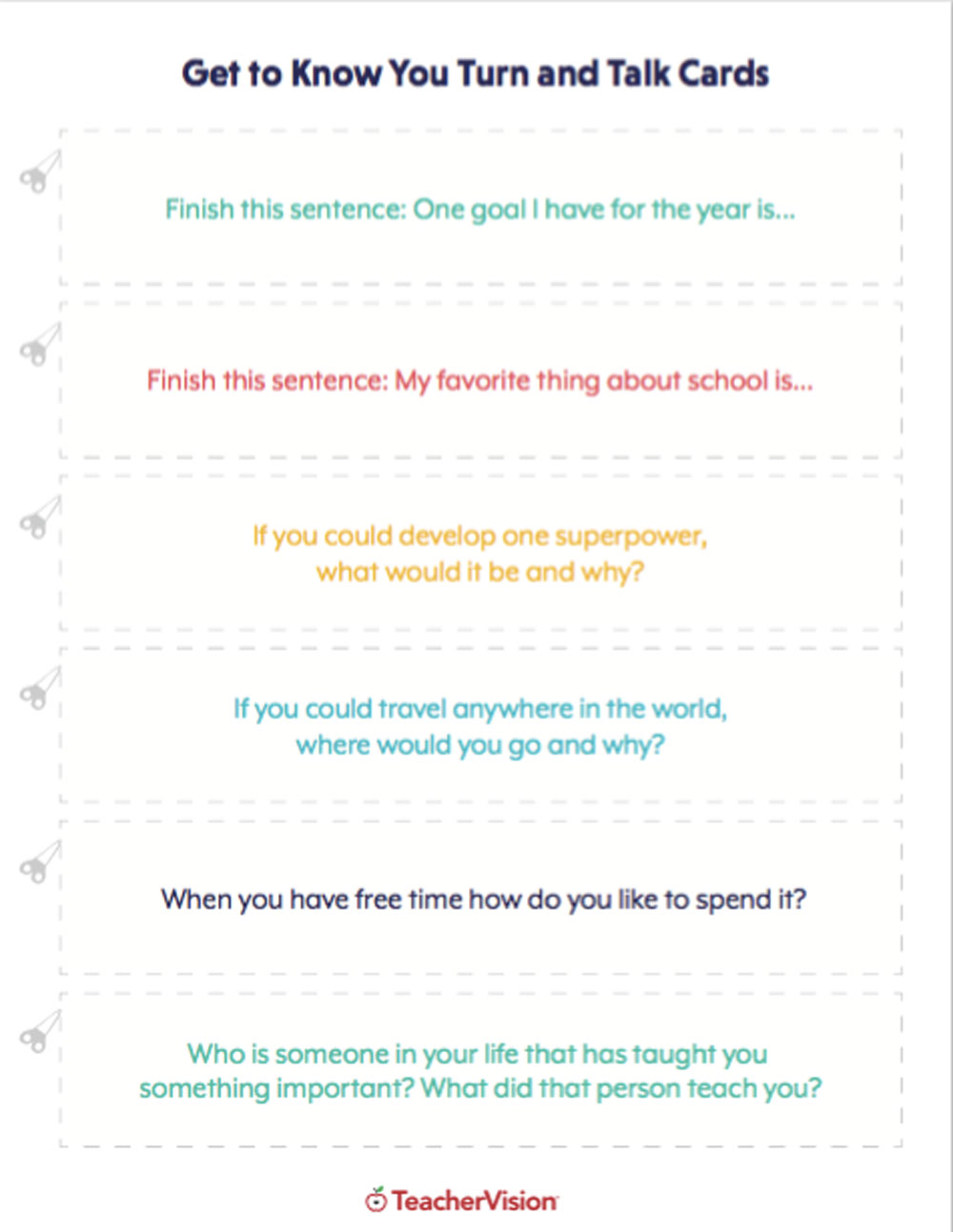 Getting to Know Your Students - Lessons & Icebreakers (K-12