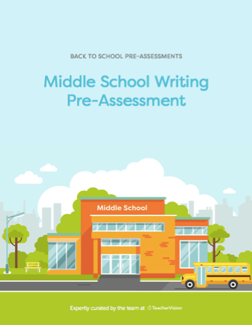 A middle school writing pre-assessment