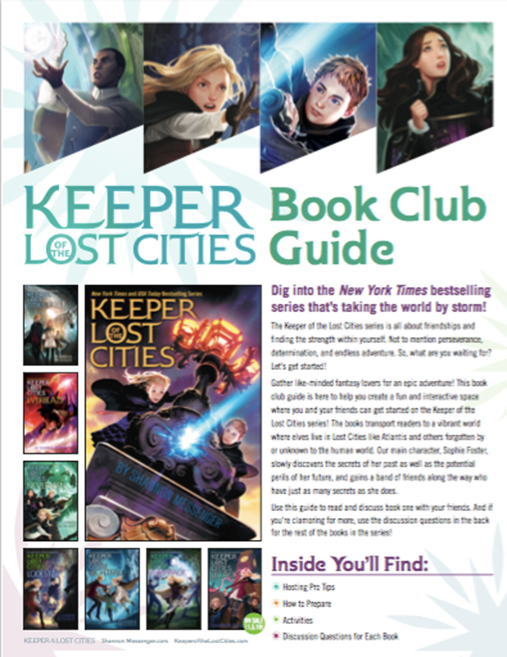 Keeper Of The Lost Cities Book Club Guide