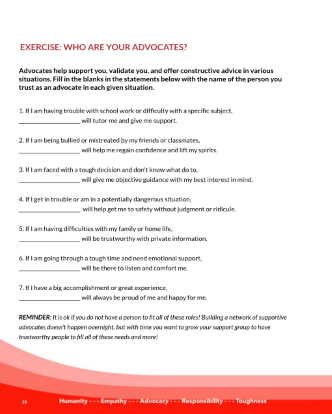 Exercise: Who Are Your Advcates?