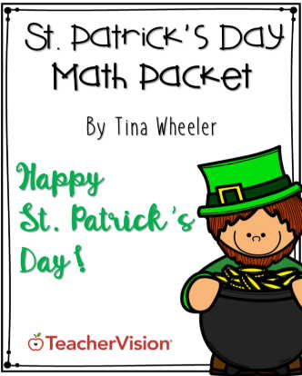 themed packet of elementary math activities for st. patrick's day