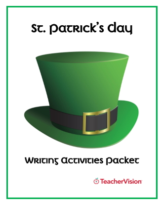 Themed packet of St. Patrick's Day writing activities for grades 3-5