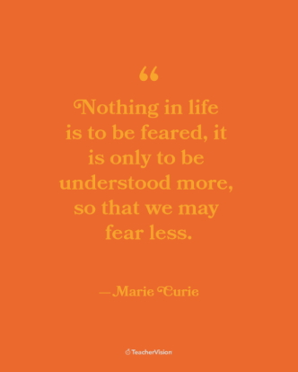 Marie Curie Women's History Month Inspirational Classroom Poster
