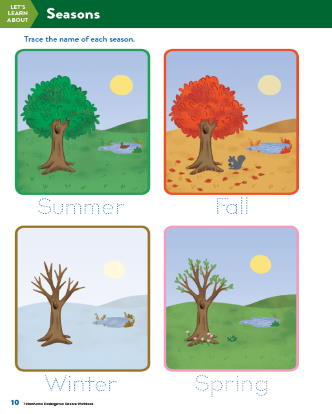 TinkerActive Science Activity Lesson: Seasons (Grade K)