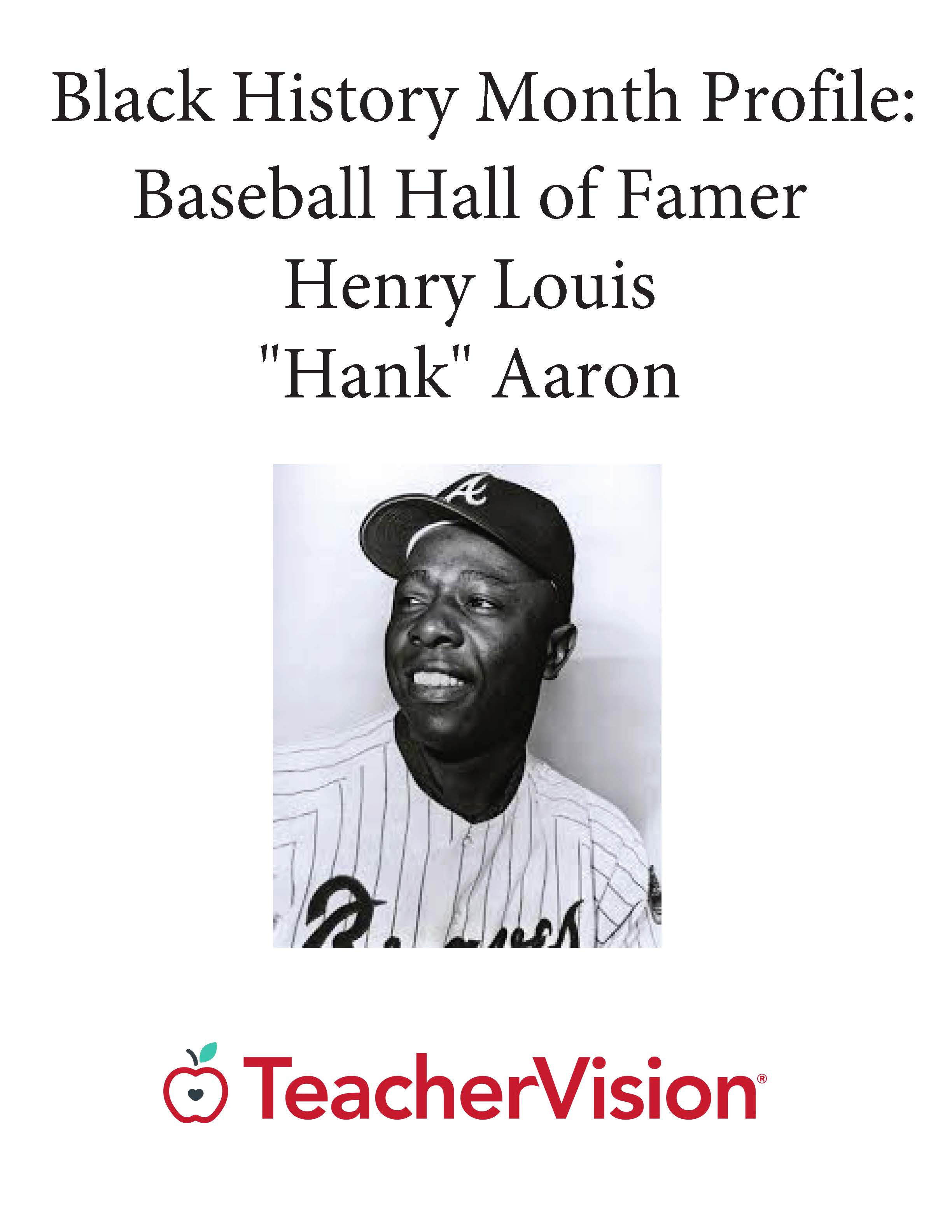Black History Month Profile: Baseball Hall of Famer Hank Aaron